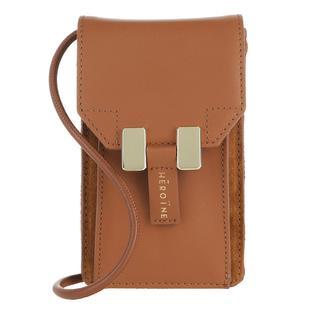 Maison Héroïne - Umhängetasche - Romy Phone Bag Terry Cognac - in cognac - für Damen
