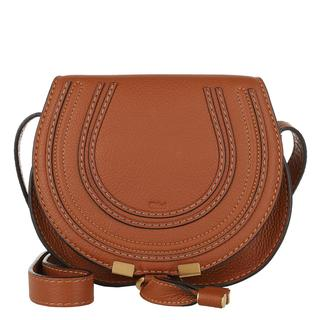 Chloé - Umhängetasche - Marcie Crossbody Bag Small Tan - in cognac - für Damen