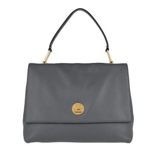 coccinelle - Satchel Bag - Handbag Grainy Lea Ash Grey/Noir - in grau - für Damen