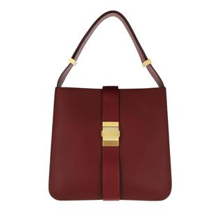 Bottega Veneta - Umhängetasche - Marie Shoulder Bag Lambskin Bordeuax Gold - in rot - für Damen