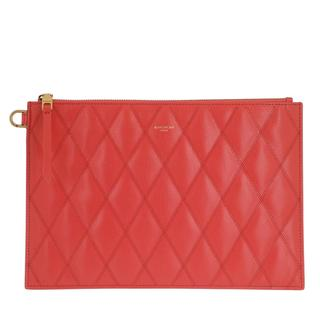 Givenchy - Clutch - Quilted Pouch Leather Red - in rot - für Damen