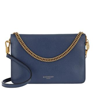 Givenchy - Umhängetasche - Two-Toned Cross3 Bag Leather Blue Beige - in blau - für Damen