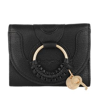 See by Chloé - Portemonnaie - Hana Compact Wallet Leather Black - in schwarz - für Damen