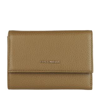 coccinelle - Portemonnaie - Wallet Grainy Leather Moss Green - in grün - für Damen