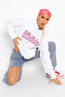 """boohoo - Womens Hoodie Mit """"90'S Baby""""-Slogan - Weiß - Xl, Weiß"""