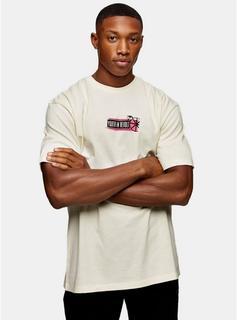 Topman - Mens Cream Ecru Subculture T-Shirt, Cream