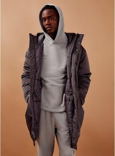 Topman - Mens Grey Oversized Parka Jacket, Grey