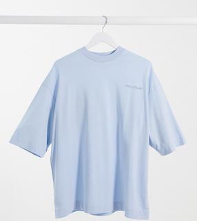 Collusion - Oversize-T-Shirt mit Logo in Blassblau