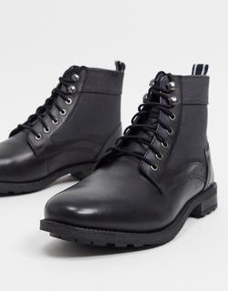 Original Penguin - Ankle-Boots zum Schnüren-Schwarz