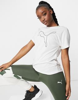 puma - Training – T-Shirt in Weiß mit Logo
