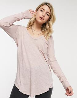 Free People - Betty – Langärmliges T-Shirt-Rosa