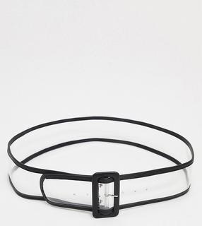 Glamorous Curve - Exclusive – Breiter, transparenter Blazer-Taillengürtel