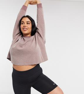 Nike Training - Nike – Yoga Plus Statement – Pullover in Rosa