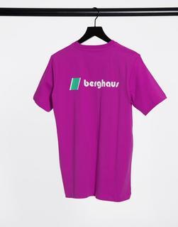 Berghaus - Heritage – Violettes T-Shirt mit Logo vorne und hinten