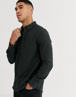 Burton Menswear - Hemd in Khaki mit Fischgrätenmuster-Grün
