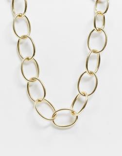 Pilgrim - Klobige, goldfarbene Halskette