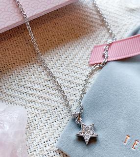 TED BAKER - Saigi – Halskette in Silber mit Sternanhänger mit Kristalldetail