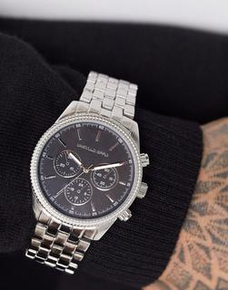 ASOS DESIGN - Silberne Armbanduhr mit matten und glänzenden Akzenten