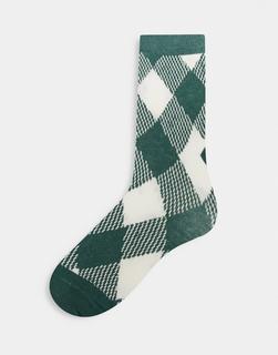 ASOS DESIGN - Karierte Socken-Mehrfarbig