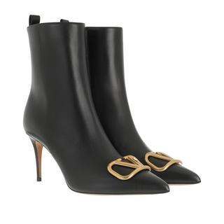 Valentino - Boots - V Logo Boots Leather Black - in schwarz - für Damen