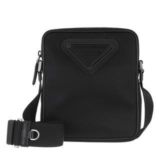 Prada - Umhängetasche - Detailed Crossbody Messenger Bag Black - in schwarz - für Damen