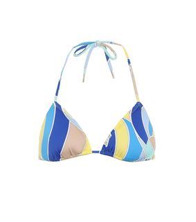 Emilio Pucci Beach - Bedrucktes Bikini-Oberteil