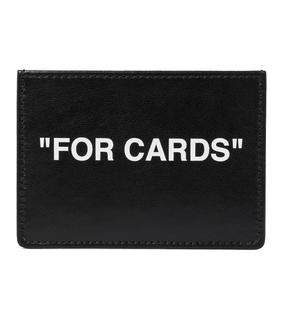Off-White - Kartenetui Quote aus Leder