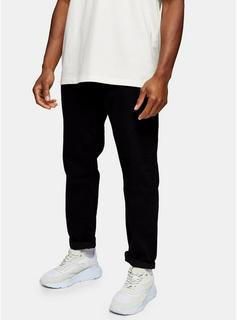 Topman - Mens Black Relaxed Fit Jeans, Black