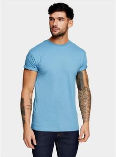 Topman - Mens Light Blue T-Shirt, Blue
