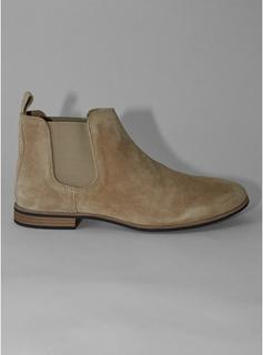 Topman - Mens Brown Beige Suede Caden Chelsea Boots, Brown