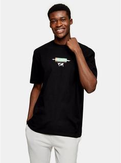 Topman - Mens Terra Nova Print T-Shirt In Black, Black