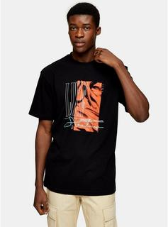Topman - Mens Luxe Print T-Shirt In Black, Black