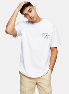Topman - Mens Exhibit Print T-Shirt In White, White