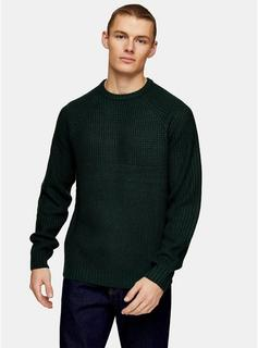 Only & Sons - Mens Only & Sons Green Knitted Jumper, Green