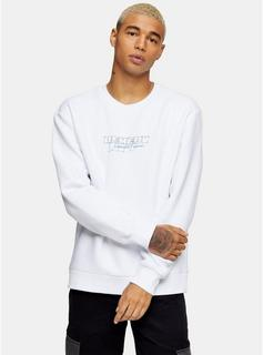 Topman - Mens Big Remedy Sweatshirt In White, White