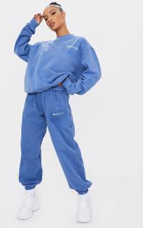 PrettyLittleThing - Blue Sport Joggers, Blue