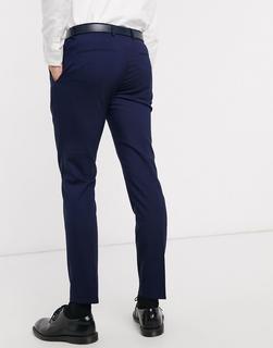 Calvin Klein - Pittsburgh – Stretch-Anzughose aus Wolle-Marineblau