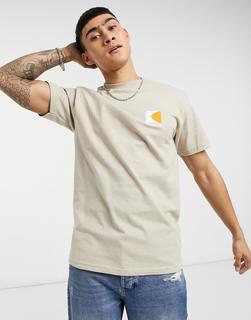Parlez - Coastal – T-Shirt mit Rückenprint in Beige-Bronze