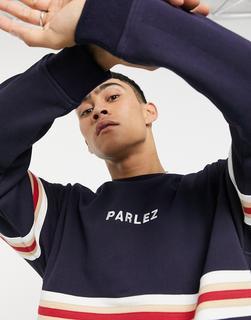 Parlez - Cariad – Besticktes Sweatshirt in Marineblau