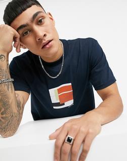 Parlez - Marin – Bedrucktes T-Shirt in Marineblau