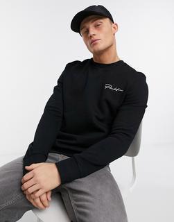 River Island - Prolific – Schmal geschnittenes Sweatshirt in Schwarz