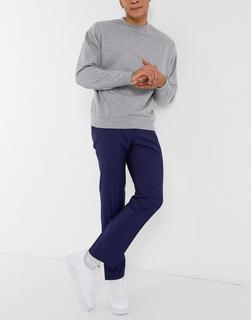 TED BAKER - Ash Sterling – Schmal geschnittene, unifarbene Anzughose-Blau