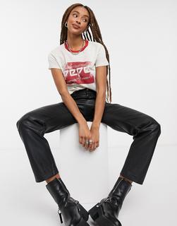 Pepe Jeans - Atea – T-Shirt mit Logo auf der Brust in Rot