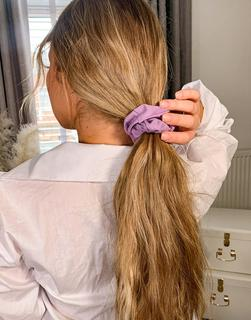 ASOS DESIGN - Haarband aus Sweatshirt-Stoff in Lila-Violett