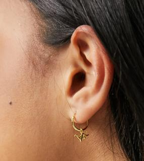Kingsley Ryan - Vergoldete Ohrringe aus Sterlingsilber mit Dinosaurierdesign