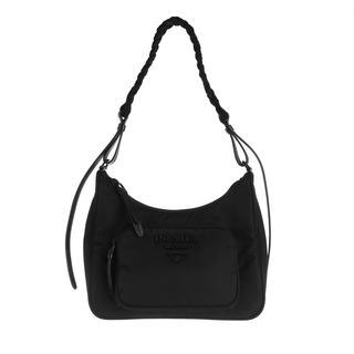 Prada - Hobo Bag - Logo Hobo Bag Black - in schwarz - für Damen