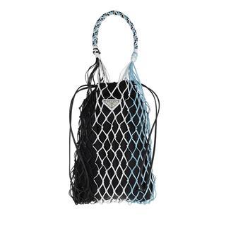 Prada - Beuteltasche - Net Tote Bag Nero/Cielo - in schwarz - für Damen