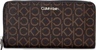 Calvin Klein - Geldbörse Ziparound Large in mittelbraun, Geldbörsen für Damen