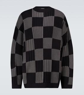 balenciaga - Karierter Pullover aus Baumwolle
