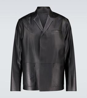 Prada - Hemdjacke aus Leder